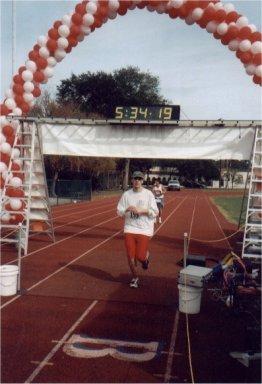 Brenton Floyd finishing at Jacksonville Marathon 2002.