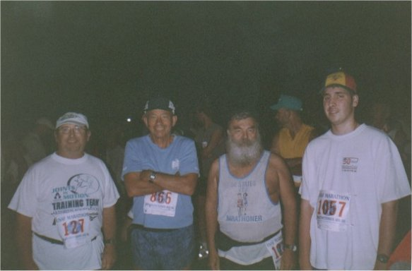John Richardson, Ray Scharenbrock, Henry, & Brenton Floyd at the Air Force Marathon in Dayton, Ohio 2002.