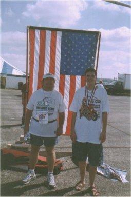 John Richardson & Brenton Floyd at Air Force Marathon, Ohio 2002.