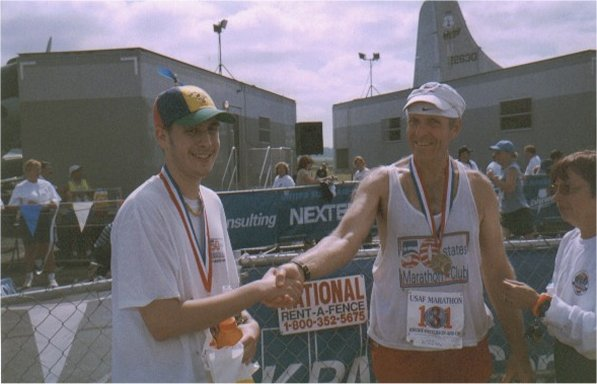 Brenton Floyd & Bill Whipp at the Air Force Marathon, Ohio 2002.