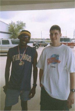 Alfred McClodden & Brenton Floyd at the Topelo Marathon 2002.