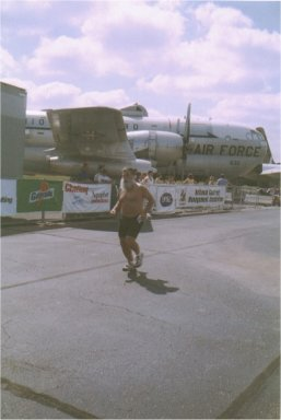 Henry at the Air Force Marathon, Ohio 2002.