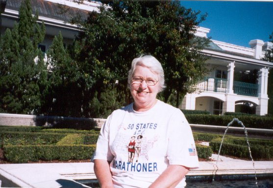 Lois Brown at Disney World Marathon