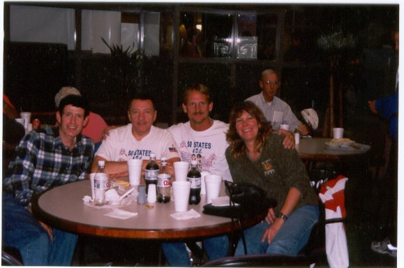 Hartford Marathon Pasta Dinner (from left) Jonathan Robinson, Randall Hansen, Jerry Schaver, Deborah Gobins