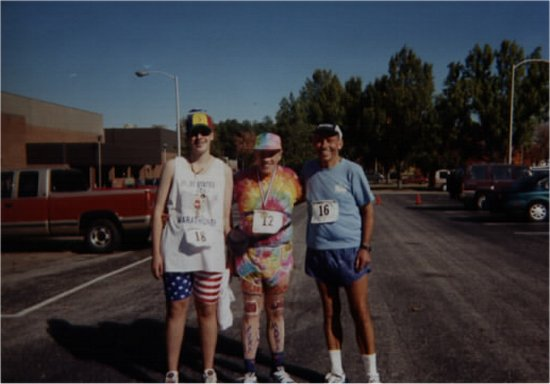 Brenton Floyd, Ray Sharenbrock, and Randell Hansen Andrew Jackson Marathon 2001. Ray Completes his 6th time around!