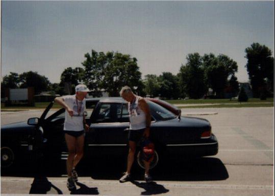 Burt Carlson & Dan Archambeau in the 1997 Marathon to Marathon