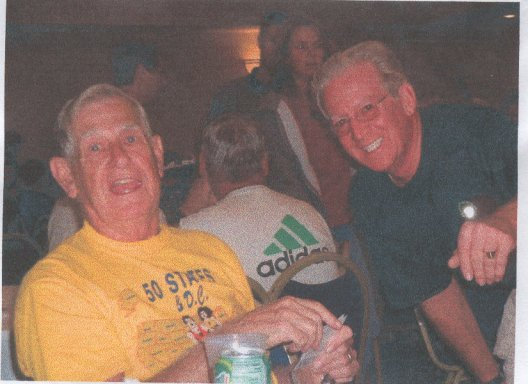 Dean Rademarker and Harry Hoffman at Q.C. Marathon 9/22/02
