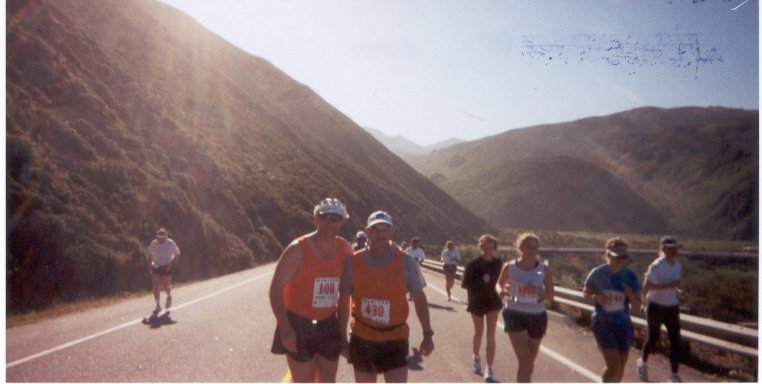 Steve Noble and Michael Zyniewicz running Big Sur 2001