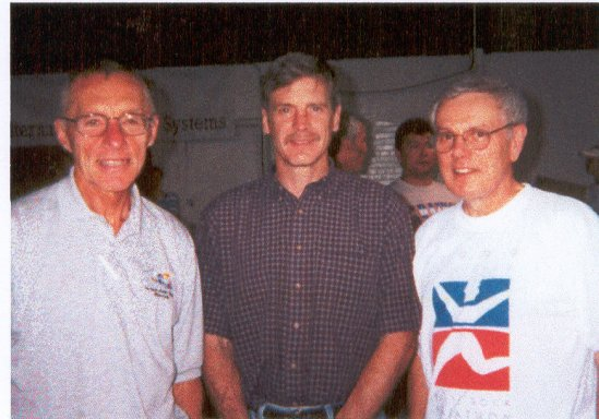 Andy Kotulski, Mike Romberg, and Bill Macy at the Lincoln Marathon Spaghetti feed