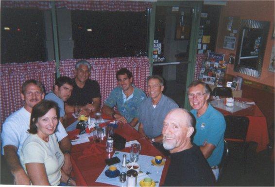 Jennifer, Jerry Schaver, Matthew Updike, Artie Guerrero, Carlos Moleda, Darvin Ayre, Andy Kotulski, Bob Roark Columbian Restraunt Miami