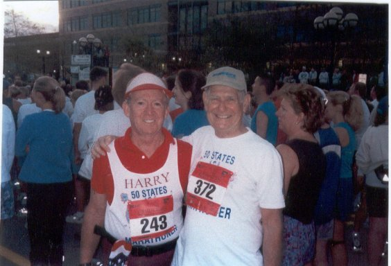 Harry Thompson and Dean Rademaker at the Q C Marathon 09/22/02