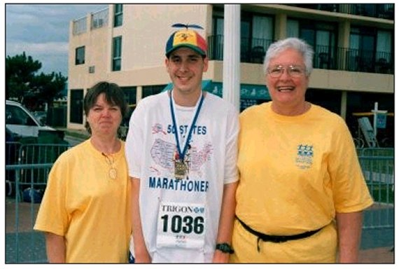 Linda Culp, Brenton Floyd, and Betty Mae Burrell Trigon Bay Bridge Marathon, Virginia Beach, Va 10/20/2002