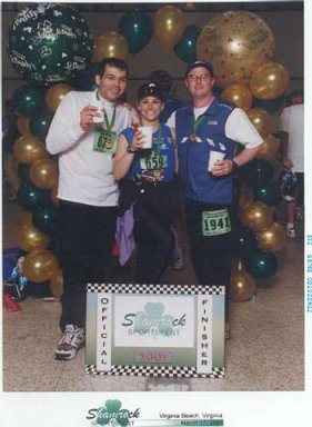 Virginia Beach Shamrock Marathon 2001 Mohammed, Kathy, and David