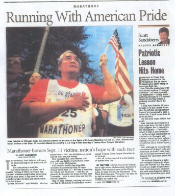 Jose` Nebrida Honors 9/11 Victims With Every Marathon He Does.