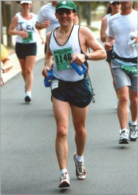 Dave Hamel ran the Shamrock SportsFest Marathon in Virginia on March 16, 2002