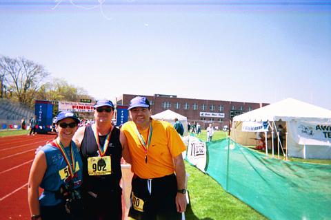 New Jersey Shore Marathon April 2001 Mohammed, Kathy, and David