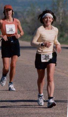 Patricia Beasley ran the Ogden Marathon Utah 05/04/02