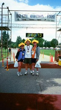 MadCity Marathon May 2001 Mohammed, Kathy and David