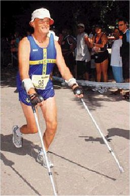 KG Nystrom finishes the Gems of Barbados Marathon on 12/02/02 and completes his goal of finishing under six hr. with a 5 1/4.
