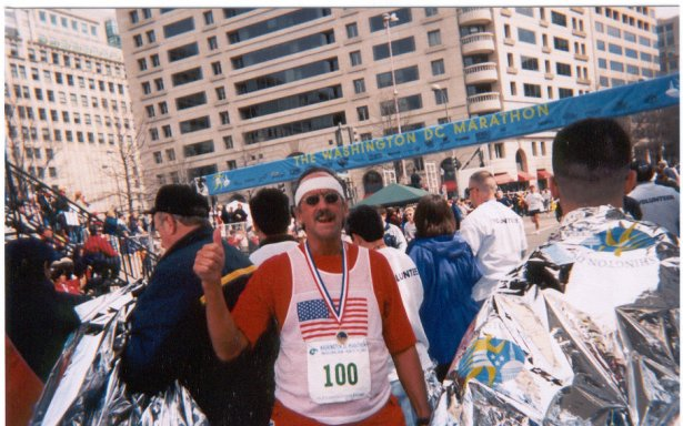 Chuck Struckness at the Washington DC Marathon