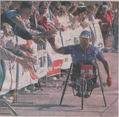 Bob 'Bart' Bardwell at the 2002 Quad Cities Marathon