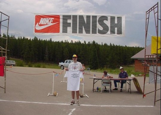 Brenton Floyd finished the 50 and DC circuit at Snow Mountain 07/07/01