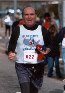 Gerald Rosen running the Raleigh Marathon