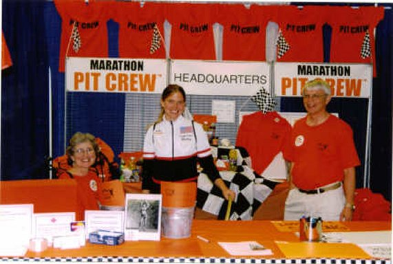 Hadley Quam, founder of the Marathon Pit Crew, at the Quad Cities Marathon