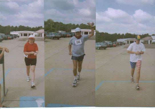 Tom Adair, Layne, Brenton Floyd at Tupelo Marathon 2002