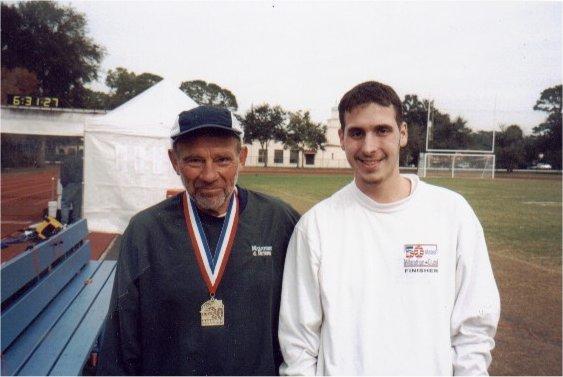 Ray Scharenbrock and Brenton Floyd in Jacksonville Marathon 2002