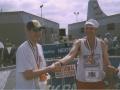 Brenton Floyd & Bill Whipp at the Air Force Marathon, Ohio 2002.