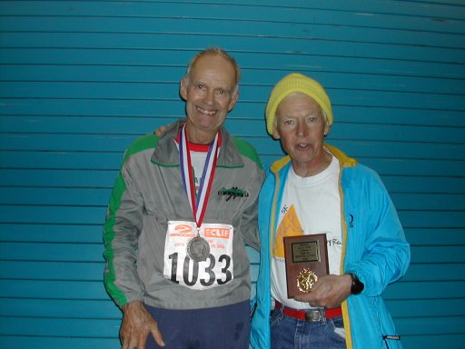 Louis Joline with the former JFK 50-mile record holder.