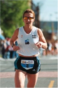 Wendy Hall at Charlotte South End 1/2 marathon on April 12, 2003