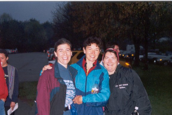 Shelly Kaufman, Kay McVey and Rosemarie Lewin at the Triple Crown Marathon