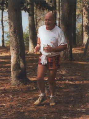 Don Lang enjoying his run through the shade of the beautiful trees.