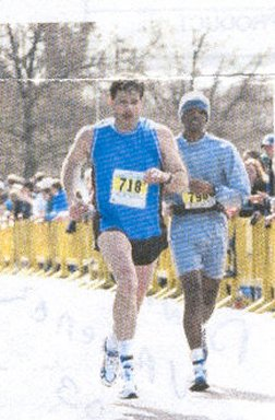 Rich MacDonald running the Virginia Beach Marathon 2003.