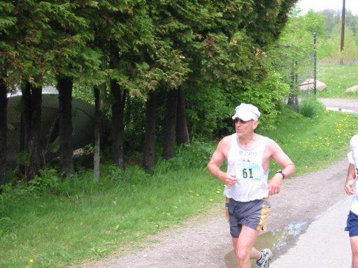 Russ Petelle running in a marathon.