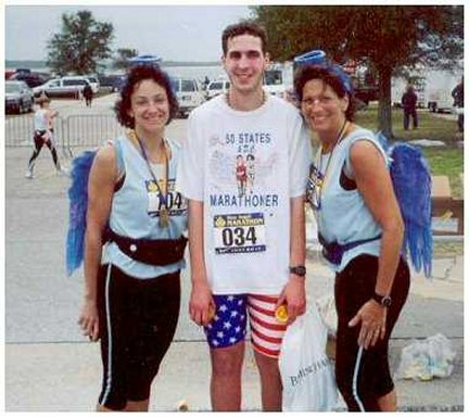 Brenton Floyd with a couple of 'Blue Angels' at the Blue Angel Marathon in Flordia 2003.