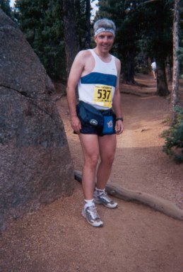 Paul Mellor takes a break for a photo at the Pike Peak Marathon in Colorado.