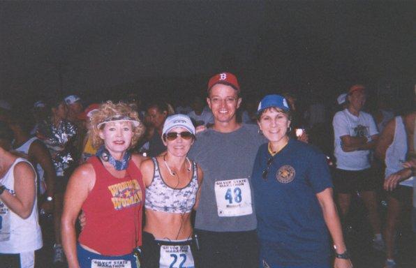 Sharon Hutt Ala., Patsy Beasley,LA., Daniel form CA., and Lisa Promenschenkel IL. at the Silver State Marathon 08/17/03
