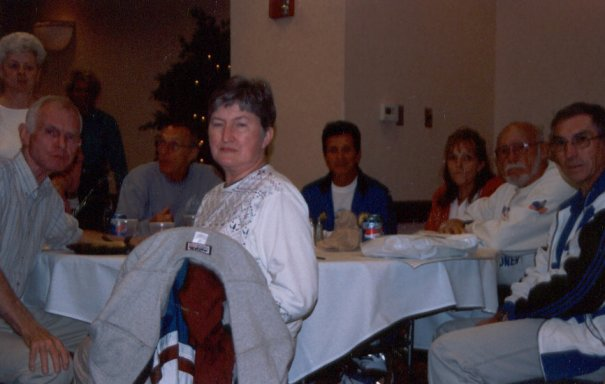 Ira Robinson and his wife, Andy Kotulski, Franseco Criniti, Jennifer, Don McNelly, Andy Sangray at the QCA Pasta Dinner.
