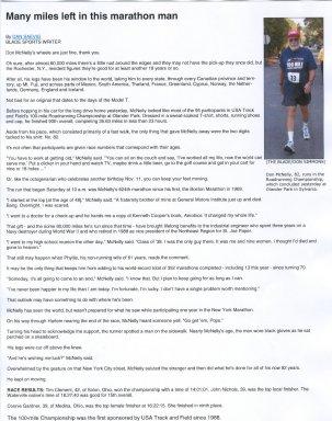 Don McNelly as Marathon Man.