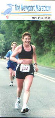 Ruth Ripley running the Newport Marathon in Oregon.