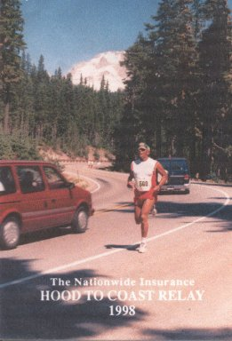 Berthell Brown, running the Hood to Coast Relay in 1998.