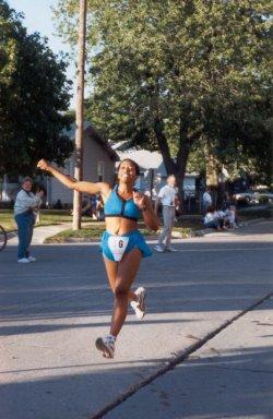 Brenda Murphy, doing the run for Ryan and got 1st female master in Sept. of 99 Great Job!