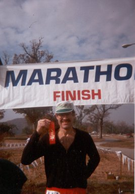 Robert Titus after finishing his 50th state at the Tulsa Marathon 11/22/97
