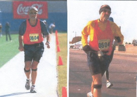 Tom Kobierski running the Memphis Marathon on December 6th, 2003.