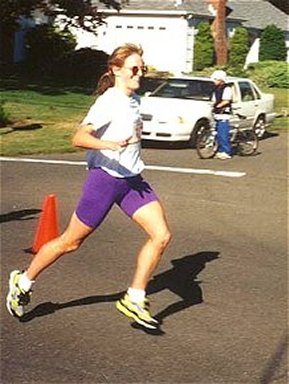 Rebecca Wright running in a race!