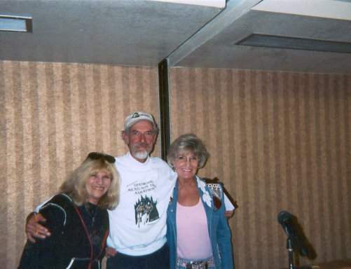 Sharon Kerson, Jerry Dunn & Elaine Doll-Dunn at Deadwood Marathon in SD 2003.