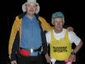 Louis Joline with friend Ben Holmes at the Rocky Racoon 100 mile run 2003